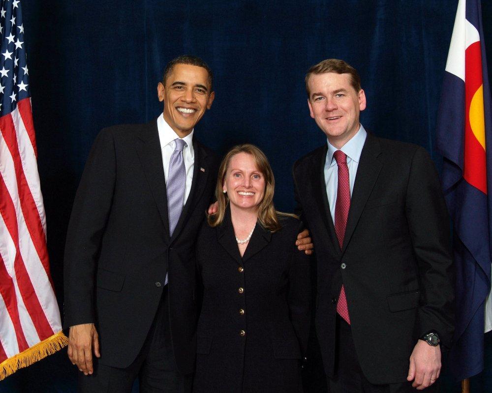 Beth Klein Attorney with President Obama and Senator Bennett